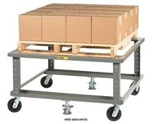 ERGONOMIC ADJUSTABLE HEIGHT MOBILE PALLET STAND